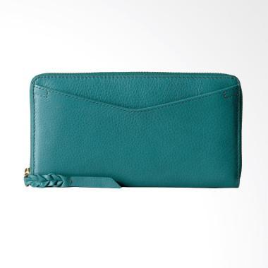 Fossil RFID Caroline Leather Smartp ... ompet Wanita - Teal Green