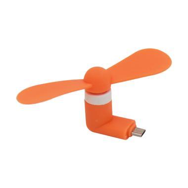 Primavox Mini USB Fan Micro USB Port - Orange