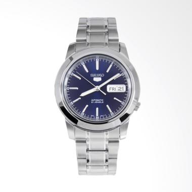 Seiko 5 Automatic Stainless Steel Jam Tangan Pria - Blue [SNKE51K1]