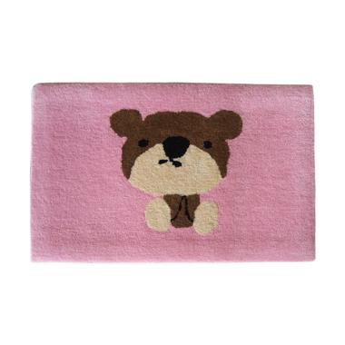 LANAMORA Handtuft Halus Unik Gambar Bear Keset Kaki [40 x 60 cm]