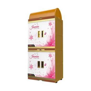 Naiba 4802 FJ Floral Rak Piring - Pink Off White