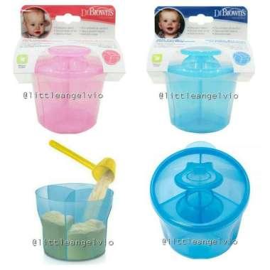 harga Dr brown browns Milk Powder Container dispenser / tempat susu bayi - BLUE PINK Blibli.com