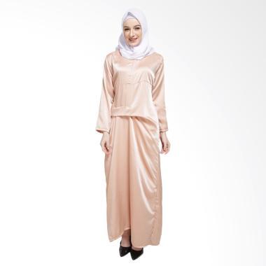 XQ Salmila Dress Muslim Wanita - Brown