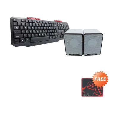 Fantech K210 Office Keyboard and GS ... utih + Free MP25 Mousepad