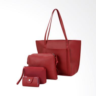 KarnaKamu Fashion 4in1 Set Tas Wanita - Red