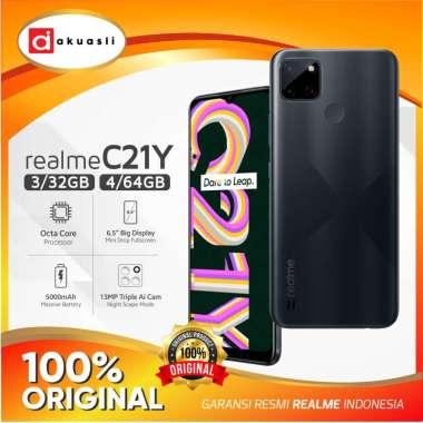 harga Realme C21Y 3/32 4/64 GB Smartphone Android RAM 3 4 ROM 32 64 Garansi Resmi Black 3/32GB Blibli.com
