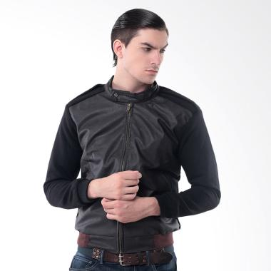 Crows Denim Leather Comby Style Jacket Pria