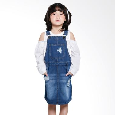 Exit Girls 315.95250.42 Overall Denim Skirt Pakaian Anak - Blue