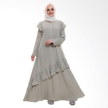 Allev Zalfa Dress Muslim Wanita - Hijau