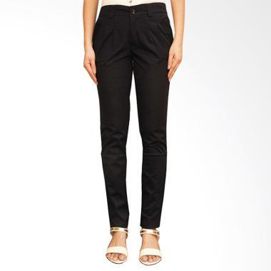 Adore Ladies Flip Pocket Celana Panjang - Black [Big Size]