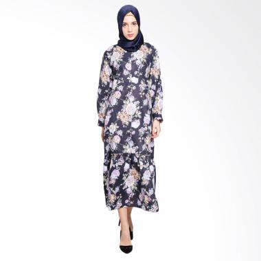Ayda Motif Bunga Gamis Jumbo - Flower Print