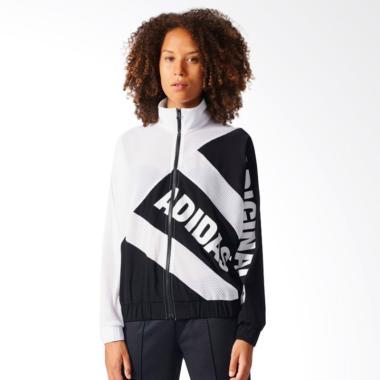 adidas Women's Mesh Tracktop Jaket Olahraga Wanita - Black White [BK6161]