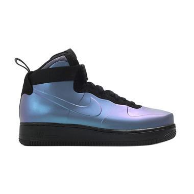 NIKE Air Force 1 Foamposite Sepatu Basket Pria - Grey