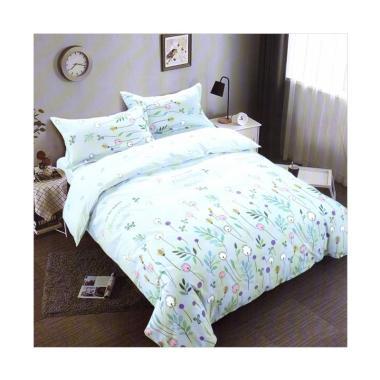 Melia Bedsheet J-4140 Katun Jepang Set Sprei - Light Blue