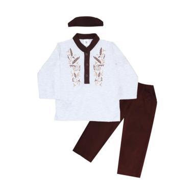 MacBear Salman Koko Setelan Baju Anak dan Kopiah - Brown