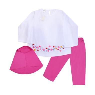 MacBear Aisyah Setelan Hijab Baju Anak - Pink