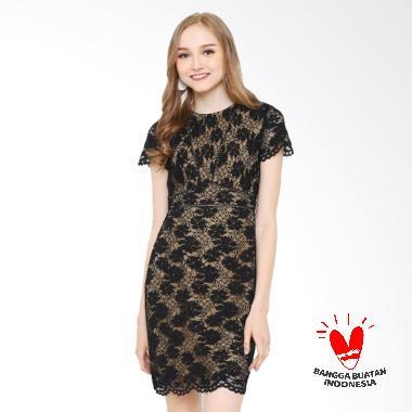 Rimini 822 Dress Wanita - Black