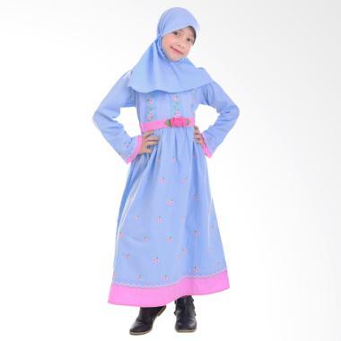 Jesca and Paul Clara 206 Gamis Baju Muslim Anak - Blue