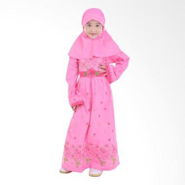 jesca-and-paul_jesca-and-paul-baju-muslim-anak-gamis-katun-bordir-qinaya-207---pink_full06 10 List Harga Jual Baju Muslim Anak Terbaru Murah Paling Baru tahun ini
