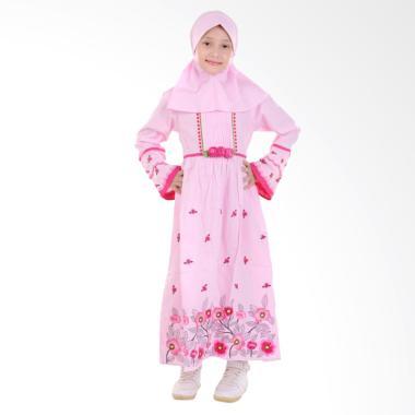 Jesca and Paul Kayla 219 Gamis Baju Muslim Anak - Pink