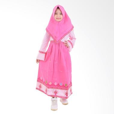 Jesca and Paul Isabel 223 Gamis Baju Muslim Anak - Pink
