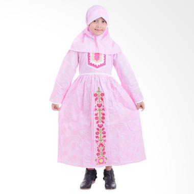 Jesca and Paul Nissa 228 Baju Muslim Anak - Pink