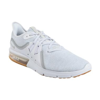 NIKE Men Running Air Max Sequent 3  ... Pria - White [921694-101]