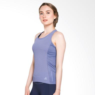 adidas Women Running Supernova Fran 37C Tank Top Pakaian Olahraga Wanita - Raw Indigo [CG1117]