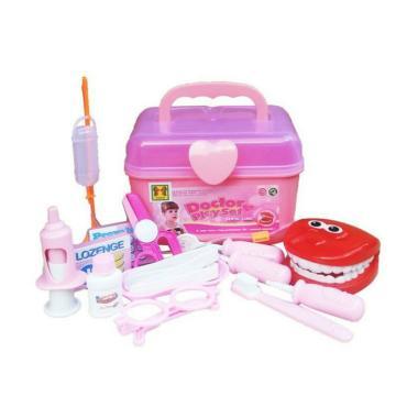 Yoyo Toys 0960180031 Dokter Dental Klinik Playset Mainan Anak - Pink