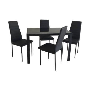 JYSK Trully Dining Set - Black [120 x 70 x 75 cm]