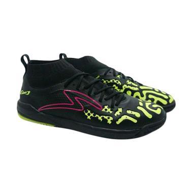 Specs Swervo Thunderstrom In Sepatu Futsal Pria - Black Green [400698/Original]