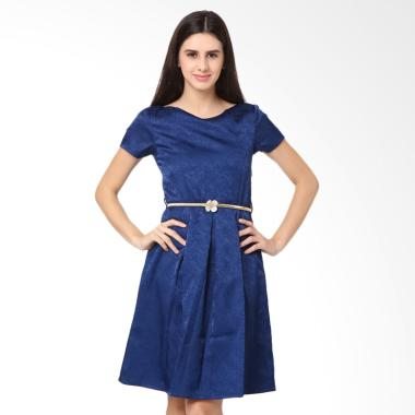 Agatha 4759.D1 Low Back Dress Wanita - Dark Blue