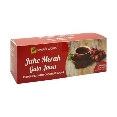 Serambi Botani Jahe Merah Gula Jawa Minuman Kesehatan [12 pcs]