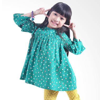 Kids Icon DGDT0900180 Dress with Fr ... nak Perempuan - Hijau Mix