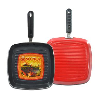 Supra Square Non-Stick Grill Bursa Dapur Alat Panggang [27 cm]