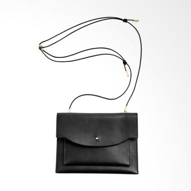 Skagen Large Lyng Leather Wallet on a String Sling Bag Wanita