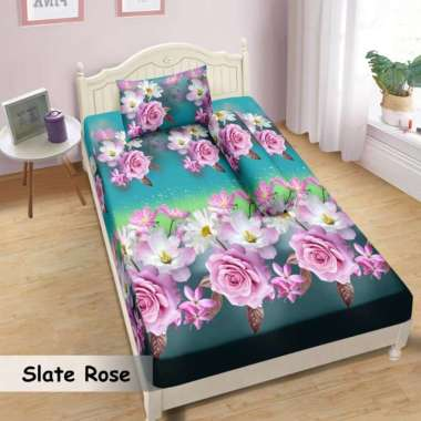 Lady Rose Motif Slate Rose Set Sprei - [Single] 90 x 200