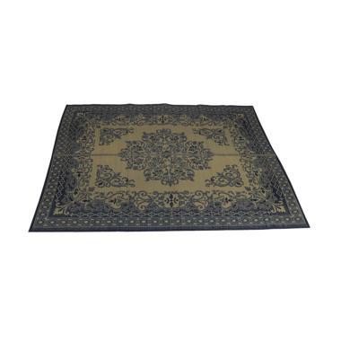 Hagihara Igusa Motif Bunga Persegi Karpet - Biru