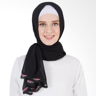 LAMAK Atira Lace Shawl Jilbab Panjang - Hitam