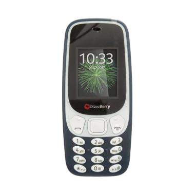 Strawberry 338 Diamond Handphone - Black