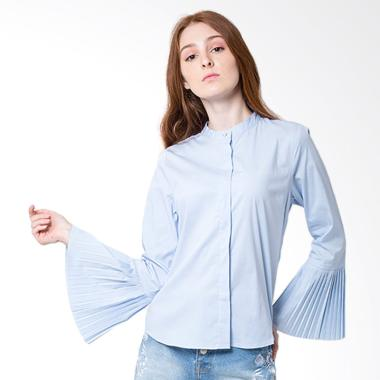 The Executive 5-Blwsig218B003 Long Sleeve Blouse Wanita - Light Blue