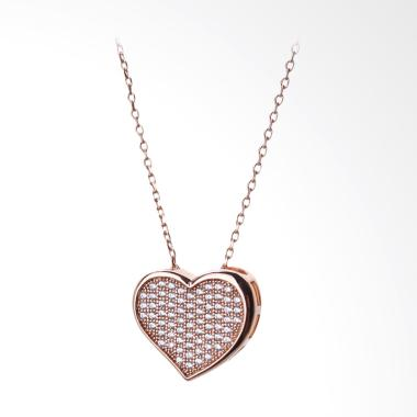 Cocoa Jewelry Champion's Heart Necklace - Rose Gold