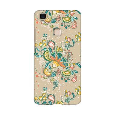 Premiumcaseid Batik Shabby Floral Art Hardcase Casing for Vivo V3