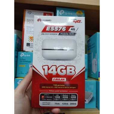 harga Mifi Modem Wifi 4G All Operator Huawei E5576 Free Telkomsel Kuota 14GB MULTY COLOUR Blibli.com