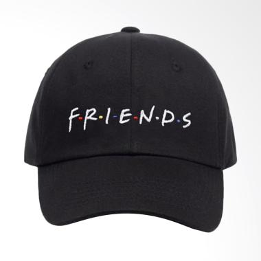 Jersi Clothing Friends Baseball Snapback Topi Pria - Hitam