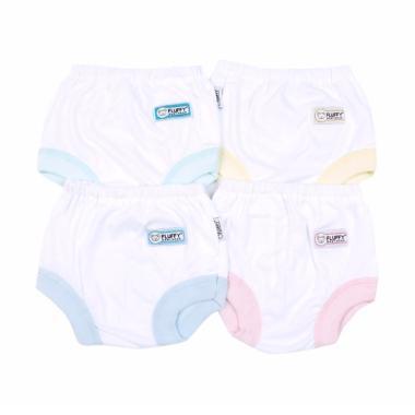 Fluffy CSA-CSS Set Celana Pendek Bayi - Putih [4 Pcs]
