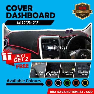 Cover Dasboard Mobil Daihatsu Ayla 2020 Aksesoris Alas Dasbor Karpet Pelindung Dashboard Biru