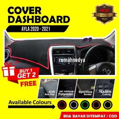 Cover Dasboard Mobil Daihatsu Ayla 2020 Aksesoris Alas Dasbor Karpet Pelindung Dashboard Kuning