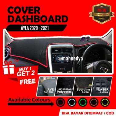 Cover Dasboard Mobil Daihatsu Ayla 2020 Aksesoris Alas Dasbor Karpet Pelindung Dashboard Merah