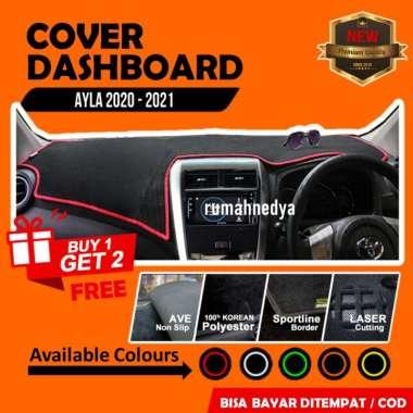 Cover Dasboard Mobil Daihatsu Ayla 2020 Aksesoris Alas Dasbor Karpet Pelindung Dashboard Orange